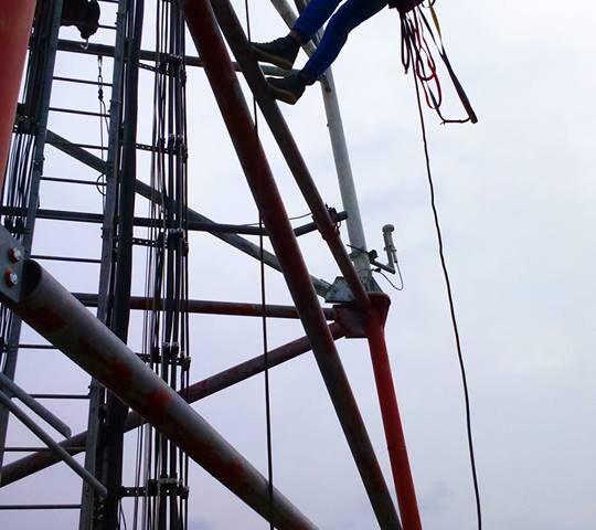 Întreținere antene GSM
